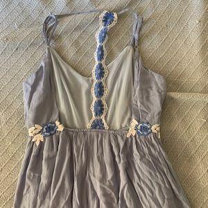 Blue Backless Sun Dress